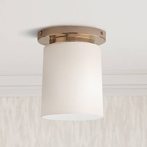"Robert Abbey Nina Nickel 6"" Wide Flushmount Ceiling Light"