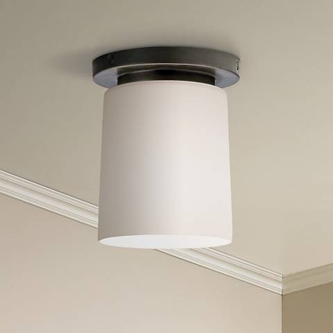 "Robert Abbey Nina Bronze 6"" Wide Flushmount Ceiling Light"