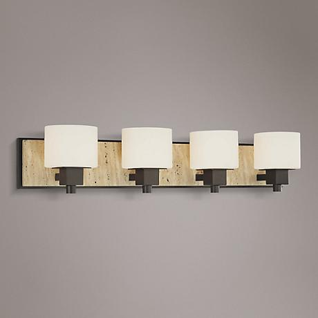 "Travertine Collection 32 1/2"" Wide Bathroom Wall Light"
