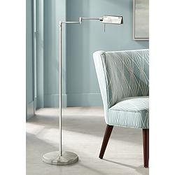 Lite Source Pharma Collection Satin Steel Floor Lamp