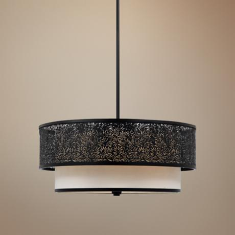 Utopia Rod Hung 3-Light Pendant Chandelier