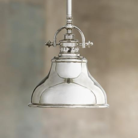 Emery Silver Finish Rod Hung Mini Pendant Chandelier