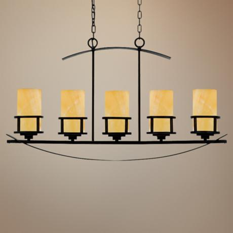 Kyle Imperial Bronze 5-Light Island Chandelier