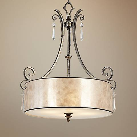 Kendra Rod Hung 4-Light Pendant Chandelier