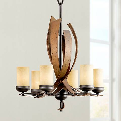 "Varaluz Aizen Collection 28"" Wide Chandelier"
