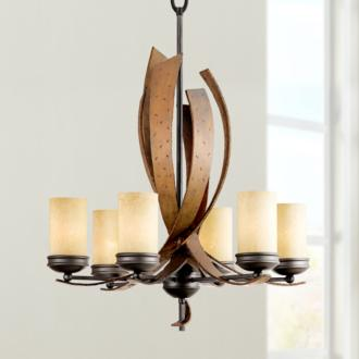 "Varaluz Aizen Collection 28"" Wide Chandelier at LAMPS PLUS"
