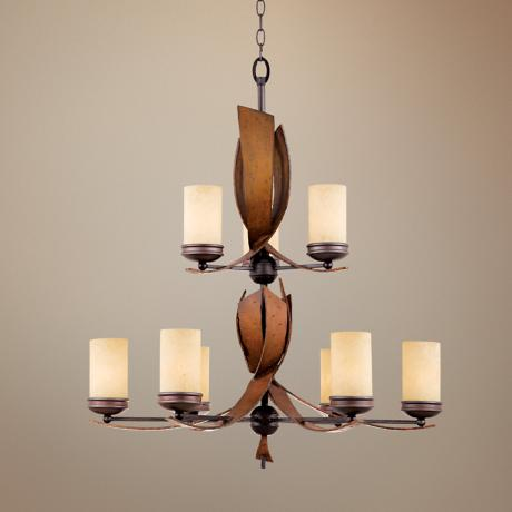 "Varaluz Aizen Collection 30"" Wide 2-Tier Chandelier"