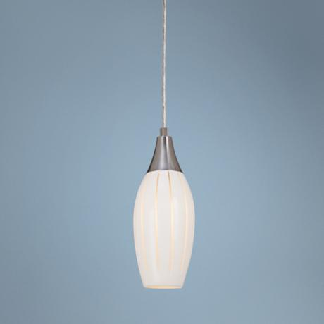 Possini Euro Design Grooved Glass Mini Pendant