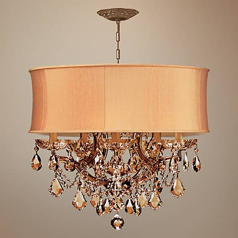 Brentwood Collection Harvest Gold 6-Light Crystal Chandelier