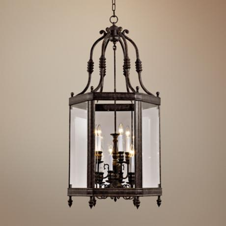 "Windsor Collection Vintage Bronze 18"" Wide Pendant Light"