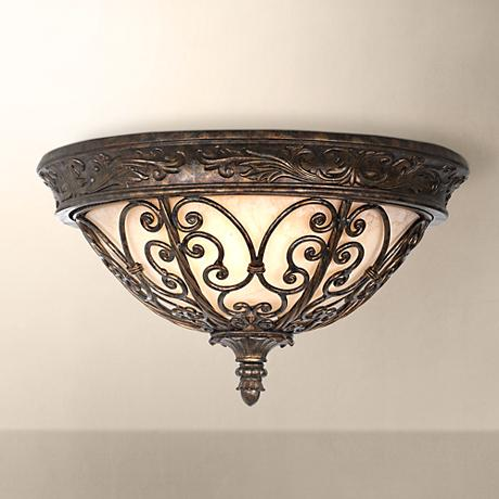 "Iron Gate Collection 16"" Wide Ceiling Light Fixture"
