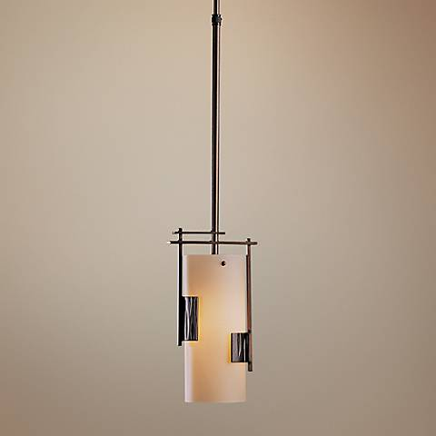"Hubbardton Forge Contemporary Bronze 6"" Wide Mini Pendant"