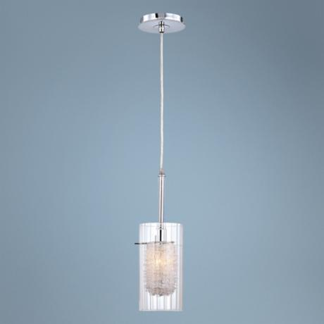 Lite Source Caldwell Collection Chrome Mini Pendant Light