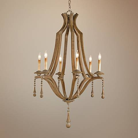 "Currey and Company Simplicity 6-Light 25"" Wide Chandelier"
