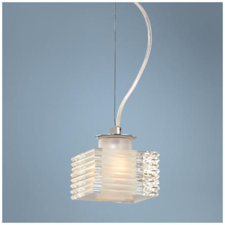 Possini Euro Design Stacked Glass Mini Pendant