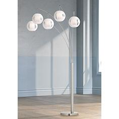 Lite Source Deion 5-Light Hanging Arc Floor Lamp