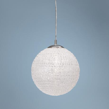 "Sphere Collection Acrylic 12"" Wide Pendant Chandelier"