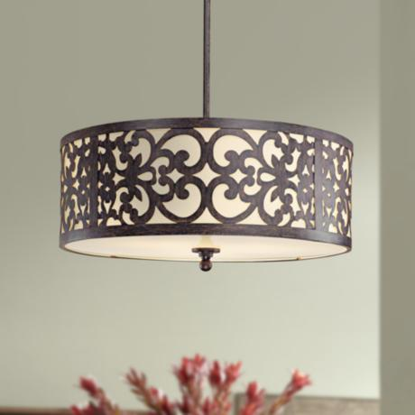 "Nanti Collection Iron Oxide 20"" Wide Pendant Chandelier"