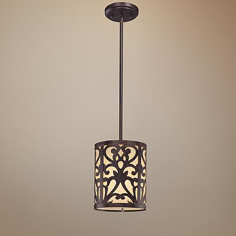 Nanti Collection Iron Oxide Mini Pendant Light