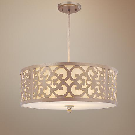 "Nanti Collection Silver 20"" Wide Pendant Chandelier"