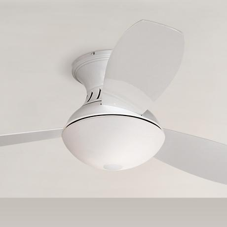 "Possini Euro Design 44"" Encore® White Hugger Ceiling Fan"