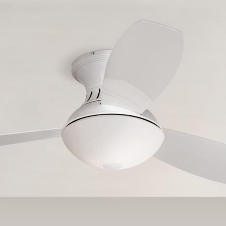 "44"" Encore™ Possini Euro White Hugger Ceiling Fan"
