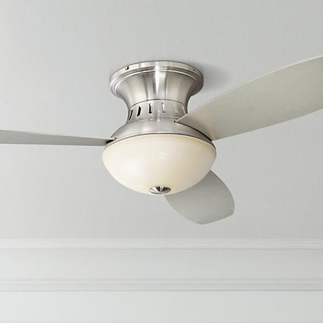 "Possini Euro Design 44"" Encore™ Silver Hugger Ceiling Fan"