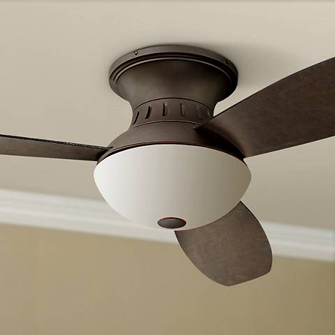 "44"" Encore® Possini Euro Bronze Hugger Ceiling Fan"