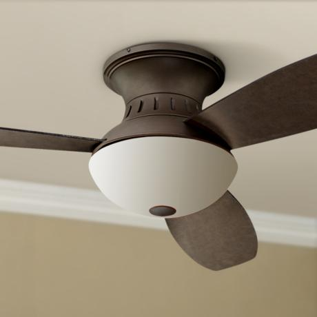 "44"" Encore™ Possini Euro Bronze Hugger Ceiling Fan"