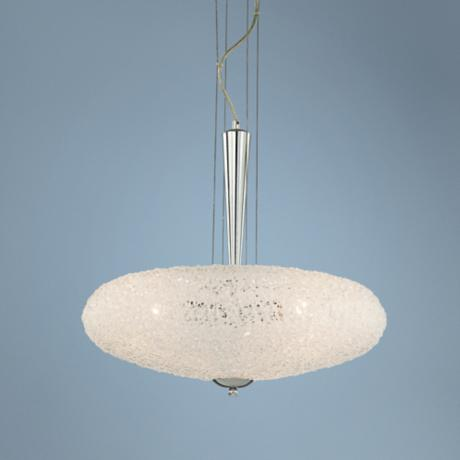 "Oval Collection Acrylic 20"" Wide Pendant Chandelier"