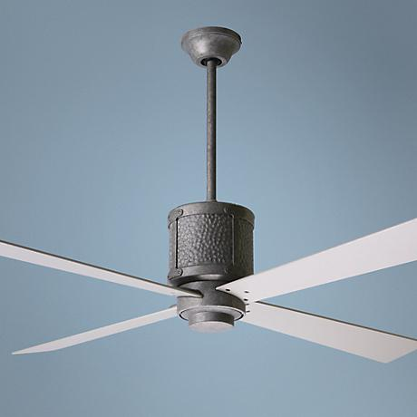 "52"" Bodega Hammered Steel Ceiling Fan"