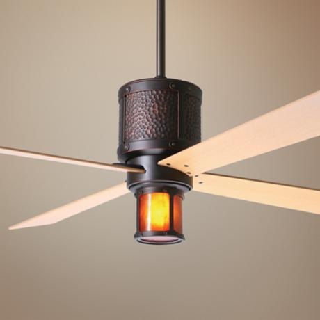 "42"" Bodega Rubbed Bronze and Mica Ceiling Fan"