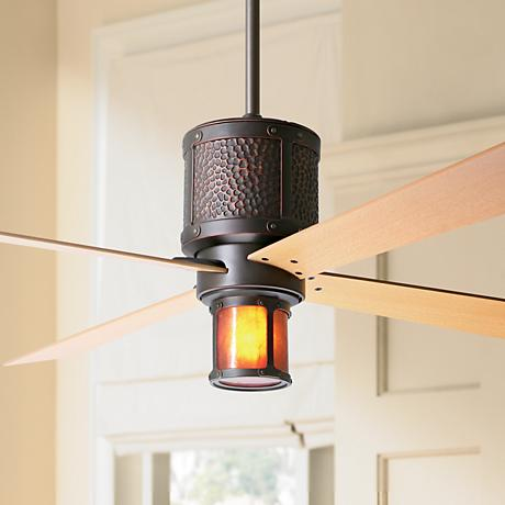 "52"" Bodega Rubbed Bronze and Mica Ceiling Fan"