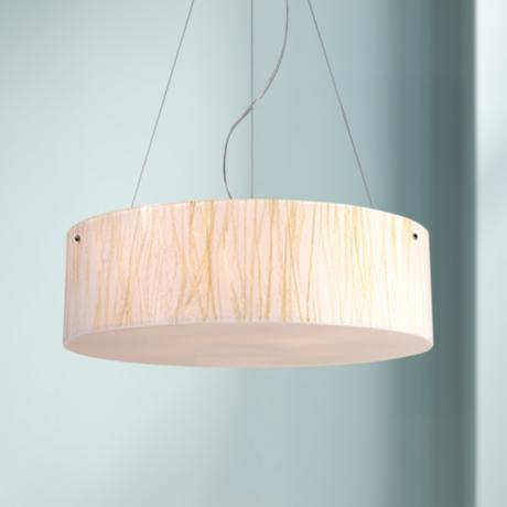 Modern Organics Collection White Sawgrass Pendant Light