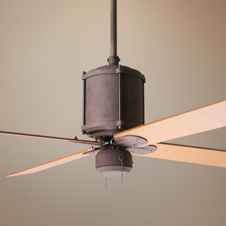 "52"" Industry Rust Finish Ceiling Fan"