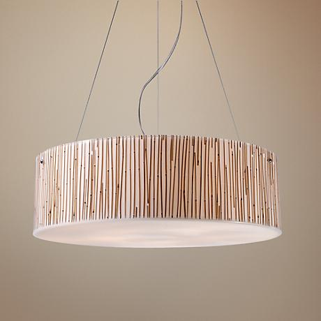 Modern Organics Collection Bamboo Stems Pendant Light