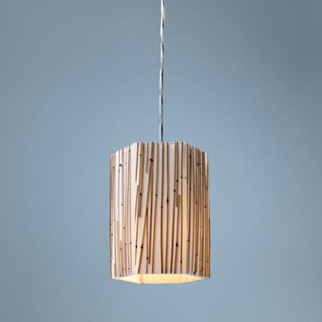Modern Organics Collection Bamboo Stems Mini Pendant Light