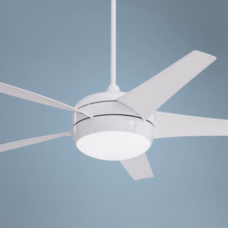 "54"" Midway Eco White Energy Star Ceiling Fan"