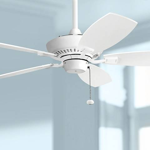"44"" Kichler Canfield White Ceiling Fan"
