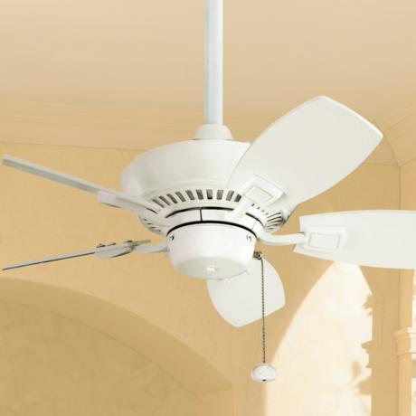"30"" Kichler Canfield White Indoor Outdoor Ceiling Fan"