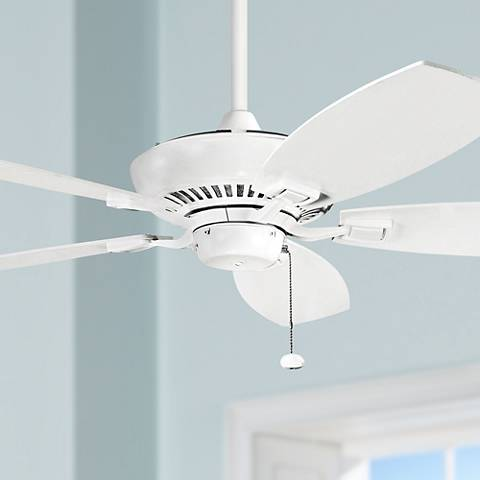 "52"" Canfield Kichler ENERGY STAR White Ceiling Fan"