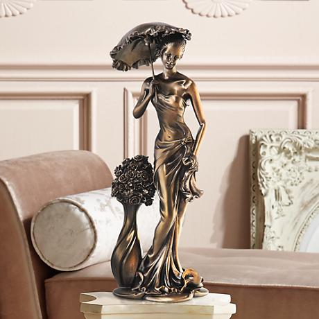 "Springtime Promenade Bronze Finish 14 3/4"" High Sculpture"