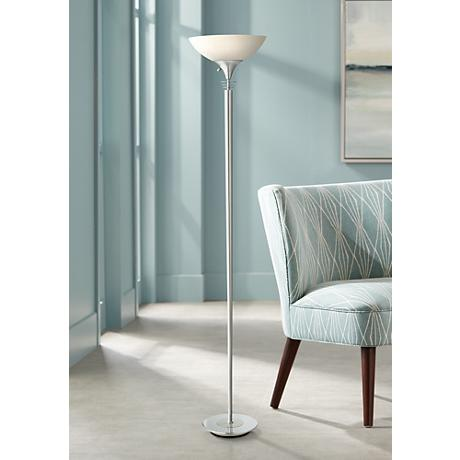 Metropolis Chrome Torchiere Floor Lamp