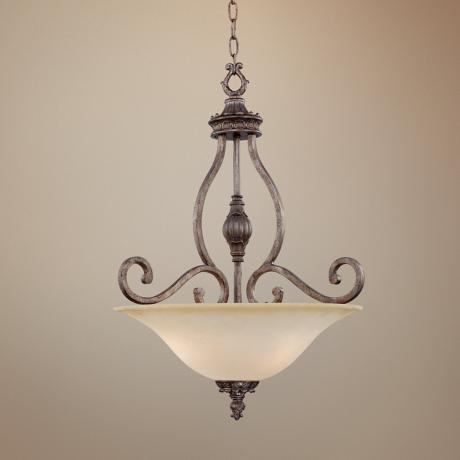 "Detailed Accents 20"" Wide Scavo Glass Pendant Chandelier"