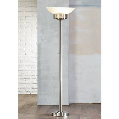 Possini Euro Light Blaster Energy Efficient Torchiere Lamp