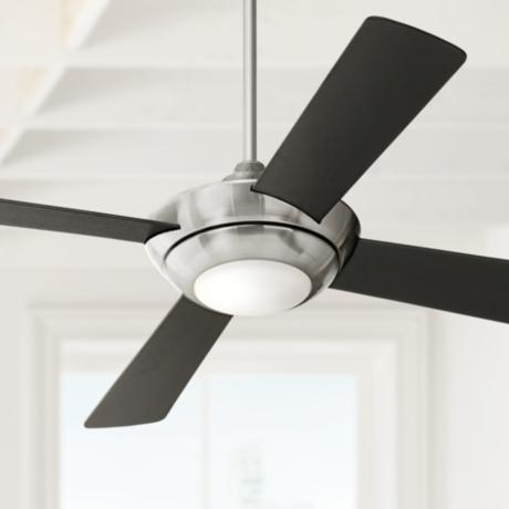 "52"" Casa Vieja® Debute Brushed Nickel Ceiling Fan"