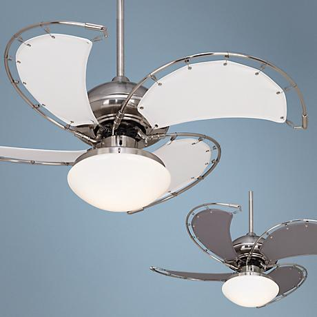 "40"" Aerial Brushed Nickel Ceiling Fan with Light Kit"