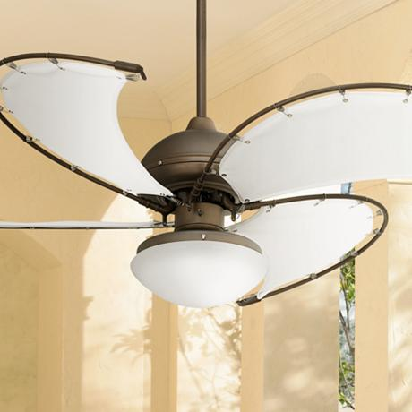 52 Quot Cool Vista Opal Glass Oil Rubbed Bronze Ceiling Fan