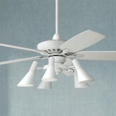 "52"" Journey White Ceiling Fan with 5-Light Kit"