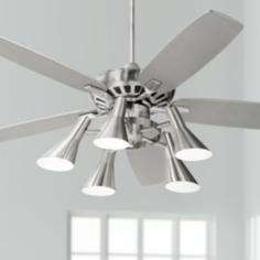 "52"" Casa Vieja Journey Nickel Light Kit Ceiling Fan"